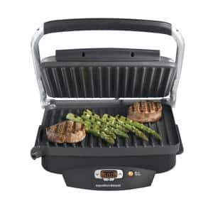 Steak Lover's 100 sq. in. Black Indoor Grill with Lid