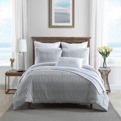Hampton 3-Piece Gray Cotton Blend King Comforter Set