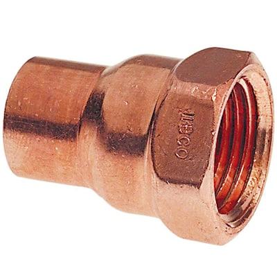 1/2 in. Copper Pressure Cup x FIPT Female Adapter (50-Pack)
