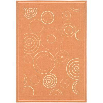 Safavieh Courtyard Terracotta Natural 3 Ft X 5 Ft Indoor Outdoor Area Rug Cy1906 3202 3 The Home Depot