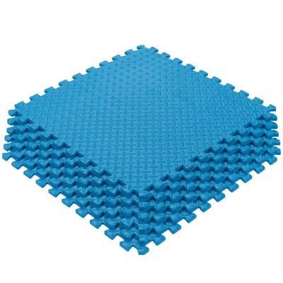 Multi-Purpose Blue 24 in. x 24 in. EVA Foam Interlocking Anti-Fatigue Exercise Tile Mat (6-Piece)