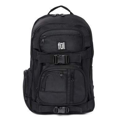 Rush 18 in. Black Laptop Backpack