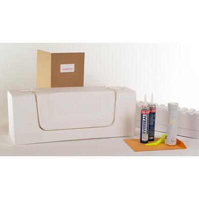 Wide White Convertible Bathtub Conversion Kit
