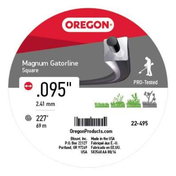 """Oregon 22-995 Magnum Gatorline 1//2Lb 113/' Donut 0.095/"""" Gauge Square String"""