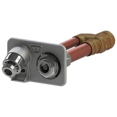 3/4 in. Female SWT x 4 in. Freezeless Brass Anti-Siphon Wall Hydrant