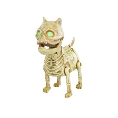 7 in. Animated LED Skeleton Mini Dog