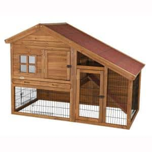 4.9 ft. x 2.6 ft. x 3.5 ft. Rabbit Enclosure with a View Hutch
