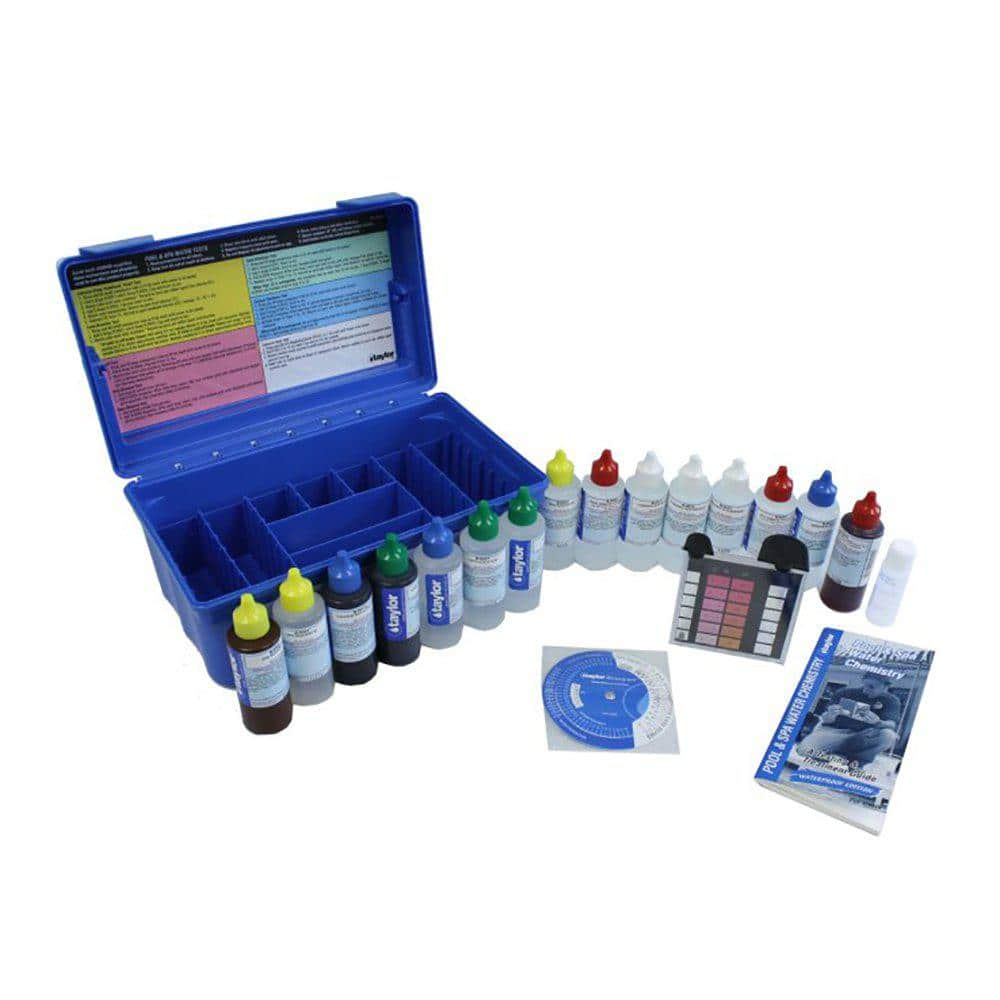 Taylor Technologies Taylor Deluxe Complete Swimming Pool Spa Test Kit Plus Chlorine Test Strips K2005c 551236 The Home Depot