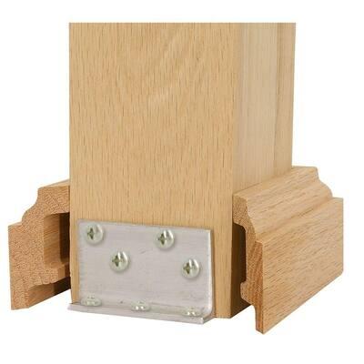 5 in. Unfinished Poplar Box Newel Attachment Kit