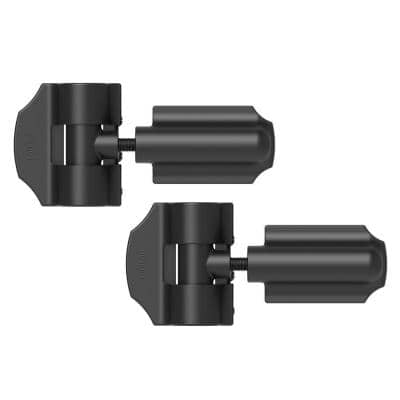 8.66 in. x 7.48 in. Heavy Duty Contemporary Stainless Steel Gate Hinge (2-Pack)