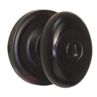 Traditionale Oil-Rubbed Bronze Keyed Entry Julienne Door Knob