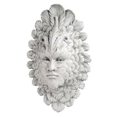 18 in. x 11.5 in. Presence of Carnevale, Greenman Outdoor Wall Sculpture