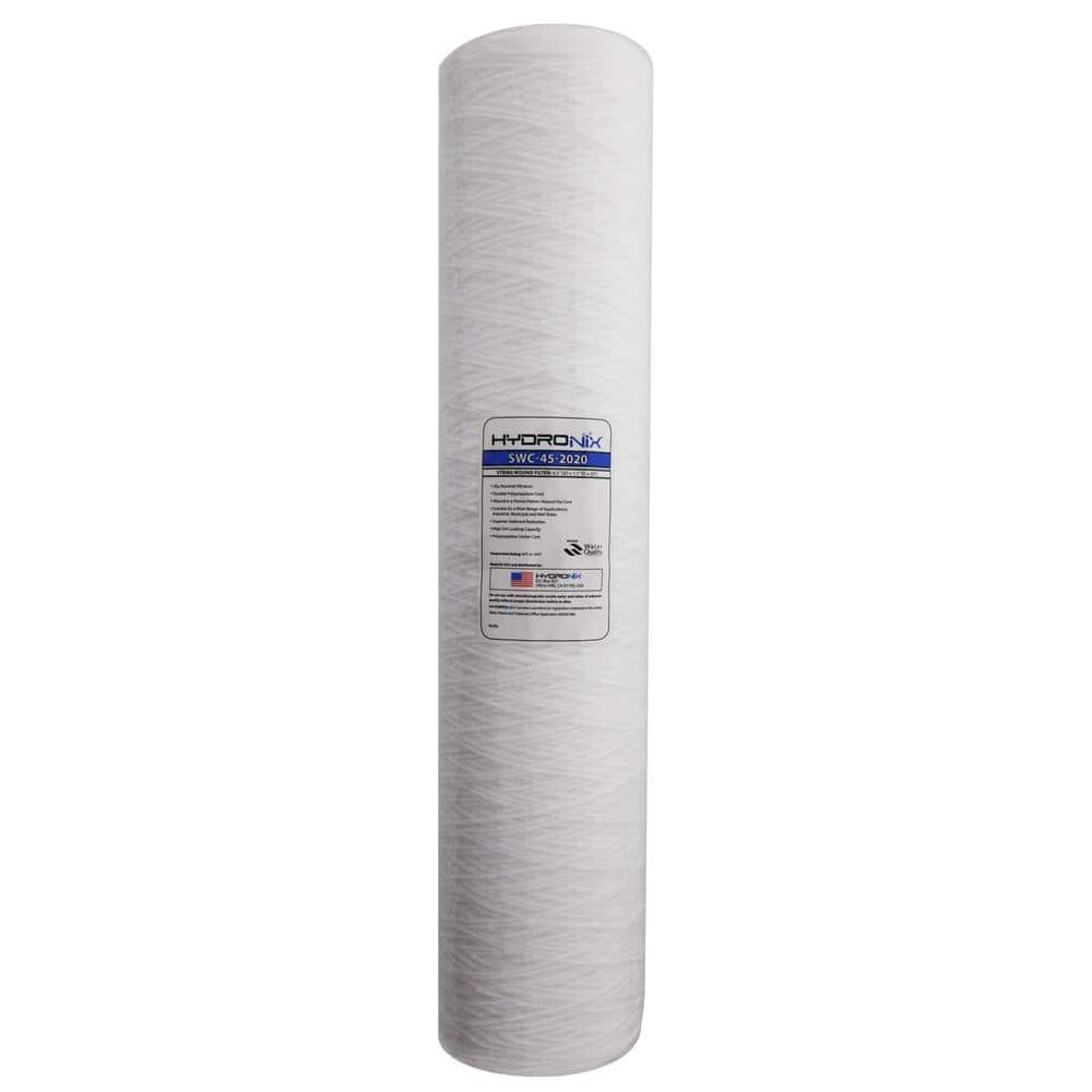 Hydronix Swc 45 2020 4 5 In X 20 In 20 Micron String Wound Filter Hydronix Swc 45 2020 The Home Depot