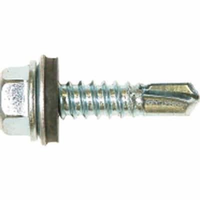 #12 3/4 in. External Hex Flange Hex-Head Self-Drilling Screws (1 lb.-Pack)