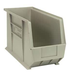 Ultra-Series 6 Gal. Hang Storage Tote and Stack in Stone (6-Pack)