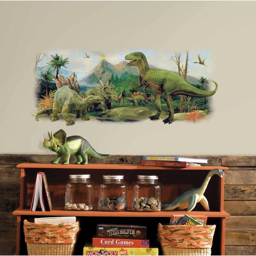 Q047w Dinosaurs River T-Rex   Head Window Wall Decal 3D Art Stickers Vinyl Room