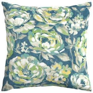 Surplus Floral Square Outdoor Throw Pillow (2-Pack)