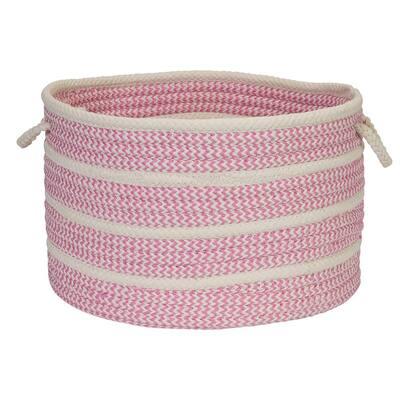 Petunia Polypropylene 22 in. x 22 in. x 14 in. Basket in Pink