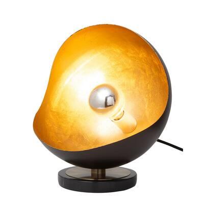 Luna 11.75 in. Black Gold Bella Accent Table Lamp