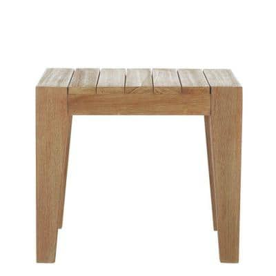 Bermuda Distressed Grey All Weather Patio Wood End Table