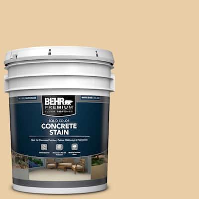 5 gal. #PFC-21 Grain Solid Color Flat Interior/Exterior Concrete Stain
