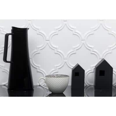 Vintage Lantern White 6-1/4 in. x 7-1/4 in. Ceramic Wall Tile (4.8 sq. ft./Box)
