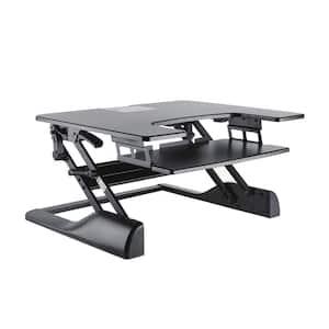32.5 in. Rectangular Black Standing Desks with Adjustable Height