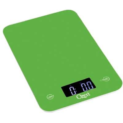 Touch Professional Digital Kitchen Scale (12 lbs. Edition), Tempered Glass in Green