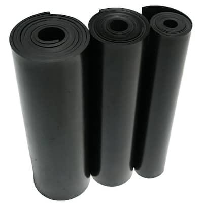 Nitrile 3/8 in. x 36 in. x 24 in. Commercial Grade 60A Black Buna Sheets