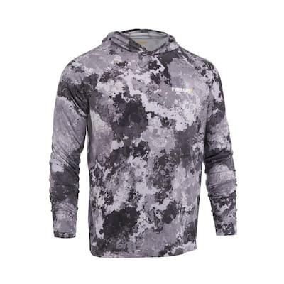 Men's Small Veil Tac Gray Performance Long Sleeved Hoodie Shirt
