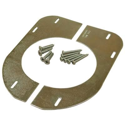 Steel Floor Plate to Support Plastic Water Closet (Toilet) Flanges for Wood Floors