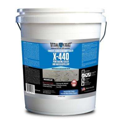 X-440 5 gal. Pail Clear Penetrating Water Based Masonry, Concrete Sealer and Water Repellent
