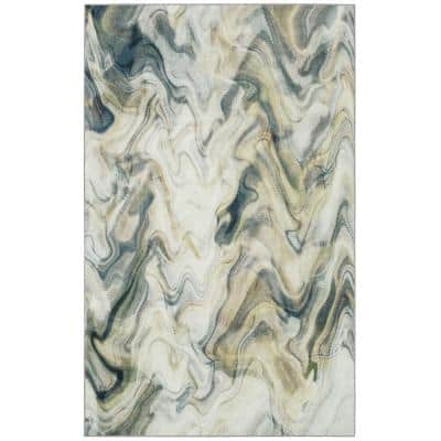 Wavelength Neutral 9 ft. x 12 ft. Abstract Area Rug