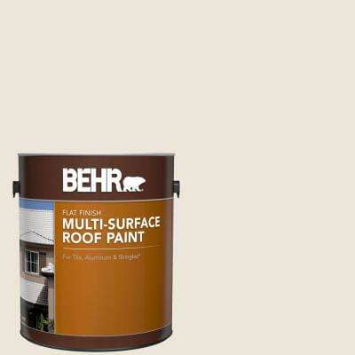 1 gal. #MS-32 Glacier White Flat Multi-Surface Exterior Roof Paint