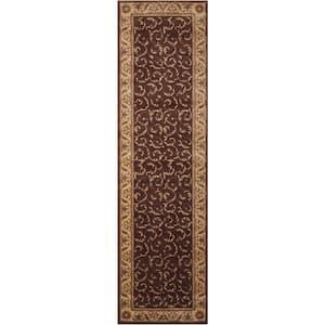 Somerset Brown 2 ft. x 8 ft. Persian Vintage Runner Rug