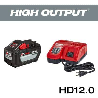 M18 18-Volt Lithium-Ion High Output Battery Pack 12.0 Ah and Rapid Charger Starter Kit