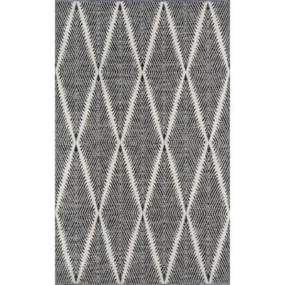 Beacon Black 7 ft. 6 in. x 9 ft. 6 in. Indoor/Outdoor Area Rug