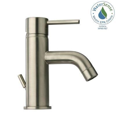 Elba Single Hole 1-Handle Low-Arc Bathroom Faucet in Brushed Nickel