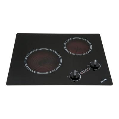 Arctic 21 in. Radiant Electric Cooktop in Black with 2-Elements 240-Volt
