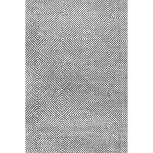 Agoja Contemporary Diamonds Gray 8 ft. x 10 ft. Area Rug