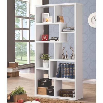 Livingston White Bookcase