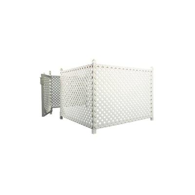 3 ft. x 56 ft. White Plastic Vinyl Lattice Fence Panel/Enclosure Kit with Gate Insert- Soft Surface