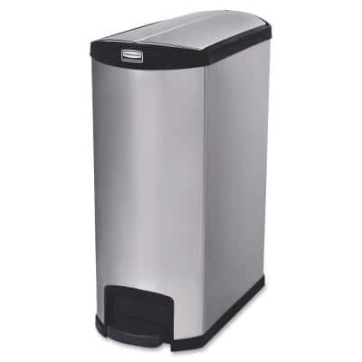 32.8 in. H x 13.1 in. W 24 Gal. Black End Step Container