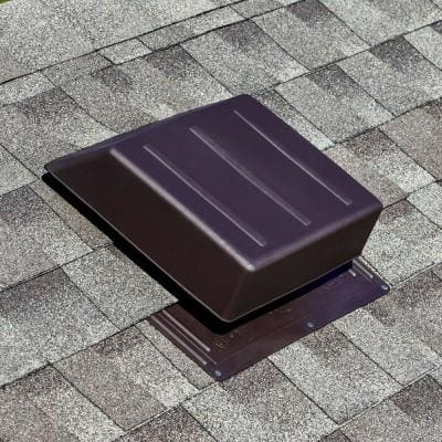 65 sq. in. NFA Brown Resin High Impact Slant Back Roof Louver Static Vent (Carton of 6)