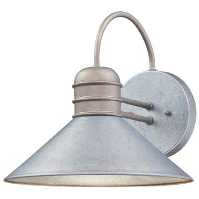 Watts Creek 1-Light Galvanized Steel Outdoor Wall Lantern Sconce