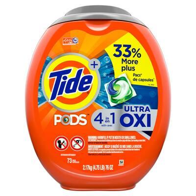 Tide PODS Ultra-Oxi Liquid Laundry Detergent (73-Count)