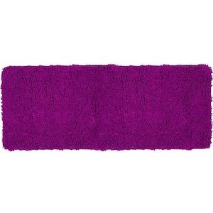 Shag Purple 24 in. x 60 in. Memory Foam Bath Mat