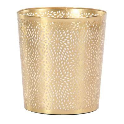 Gold Metal Glam Small Waste Bin