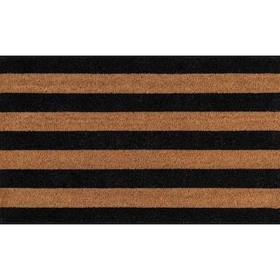 Stripe Black 1 ft. 6 in. x 2 ft. 6 in. Doormat