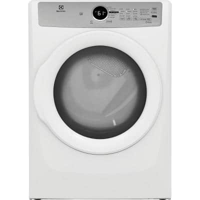 8 cu. ft. White Front Load Gas Dryer